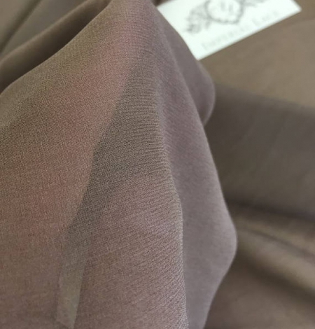 Brown Silk crepe Chiffon . Photo 3
