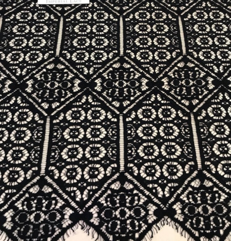 Black Lace fabric - French style. Photo 4