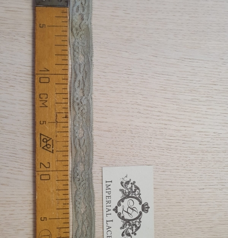 Olive green chantilly lace trimming. Photo 7