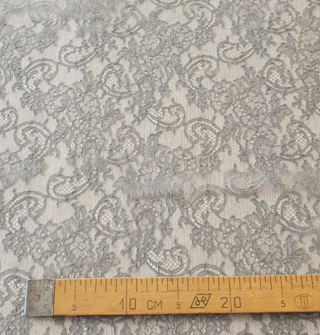 Anthracite lace fabric. Photo 9