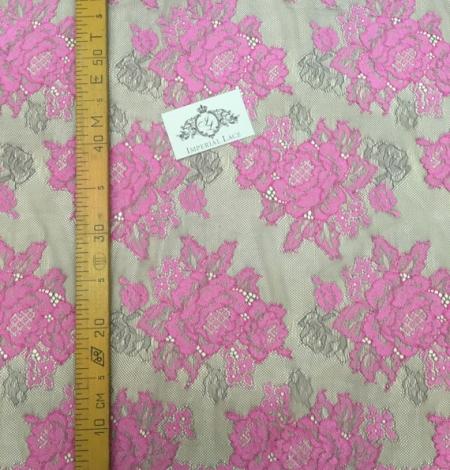 Fuchsia with grey net lace fabric. Photo 4