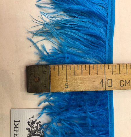Blue ostrich feathers. Photo 6