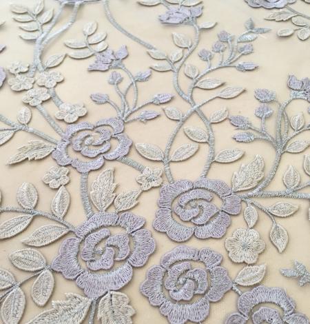 Multicolored 3D lace fabric . Photo 7