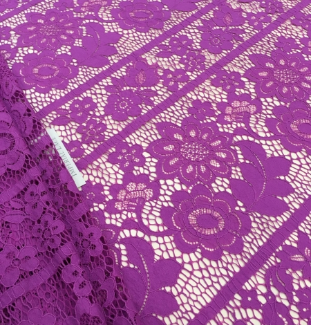 Purple lace fabric. Photo 2