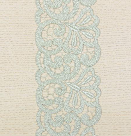 Olive green organic macrame lace trim. Photo 4