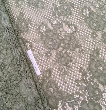 Khaki lace fabric. Photo 2