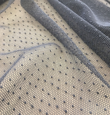 Grey tulle fabric. Photo 1