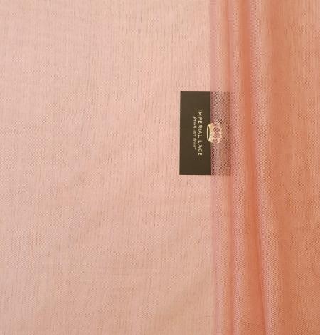 Darkish peachy pink silk tulle fabric. Photo 2