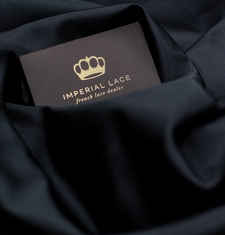 Black silk duchess fabric. Photo 5