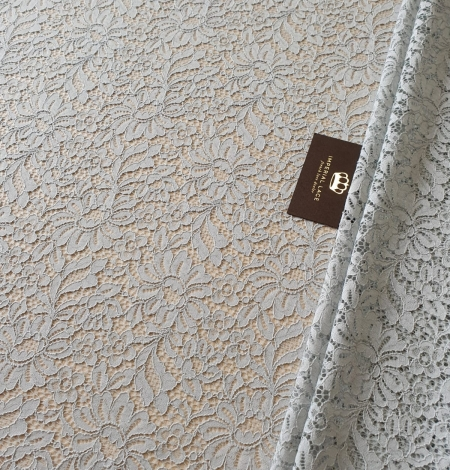 Grey guipure lace fabric. Photo 1