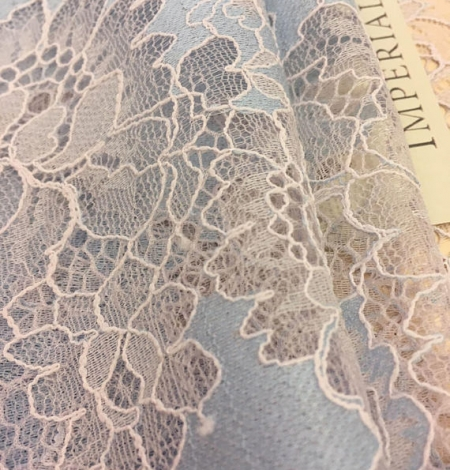 Blue Lace Fabric. Photo 3