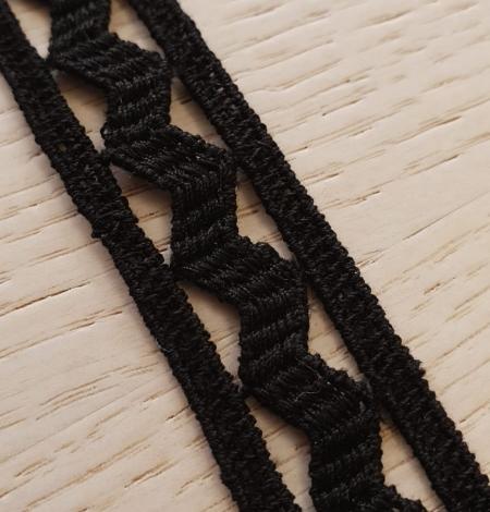 Black cotton macrame lace trimming. Photo 4