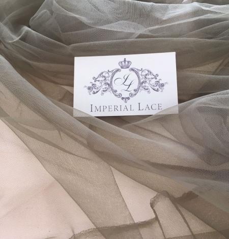 Khaki tulle fabric. Photo 3