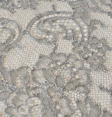 Anthracite lace fabric. Photo 6