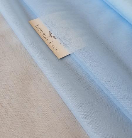 Blue tulle fabric. Photo 1