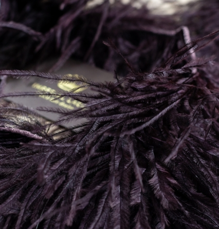 Eggplant lilac soft natural ostrich feather. Photo 3
