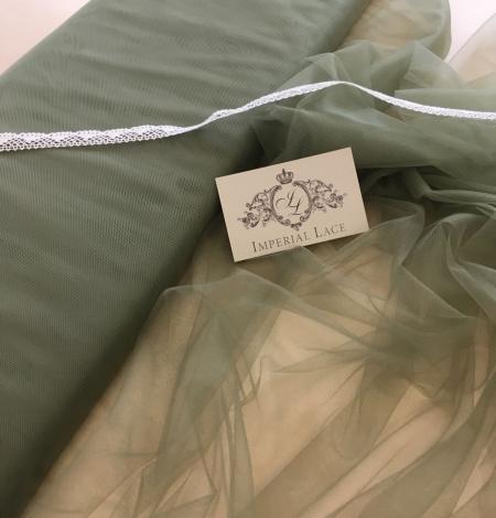 Soft khaki tulle fabric. Photo 2