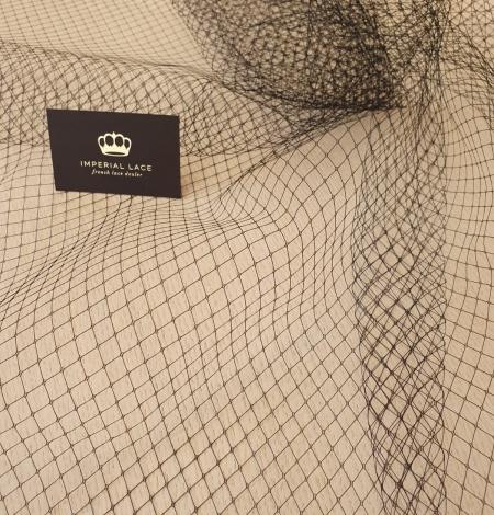Black hat net tulle fabric. Photo 4