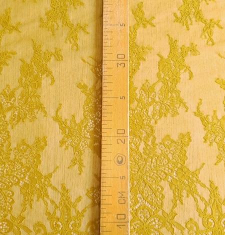 Mustard lace fabric. Photo 2