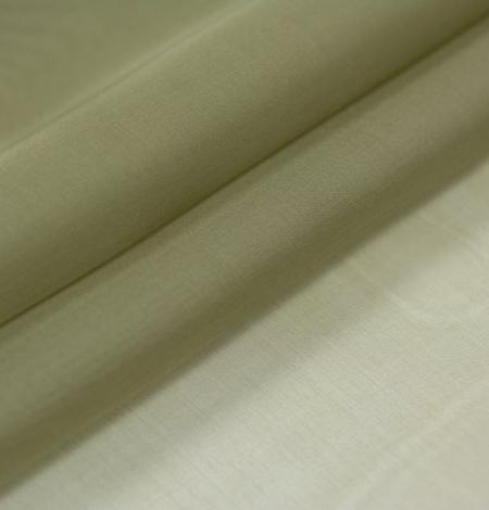 Olive green silk organza fabric . Photo 6