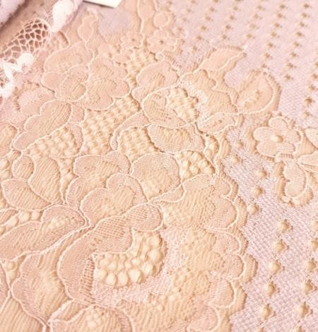 Powder color lace fabric . Photo 5