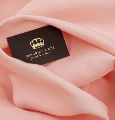 Peach color thick silk fabric. Photo 2
