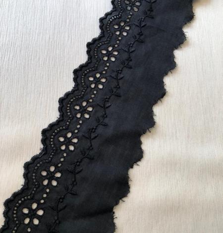Black cotton lace trim. Photo 1