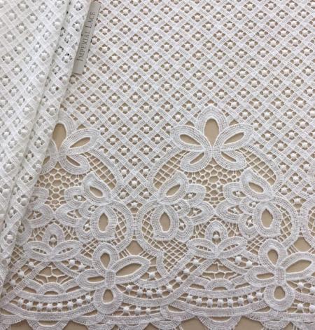 Ivory guipure lace fabric. Photo 1
