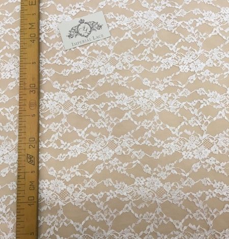 Lace fabric ivory color. Photo 3