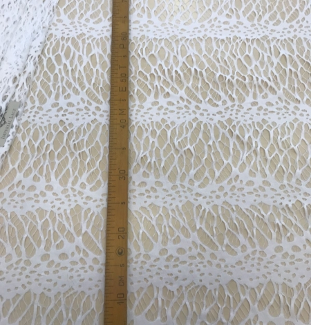 White lace fabric. Photo 7