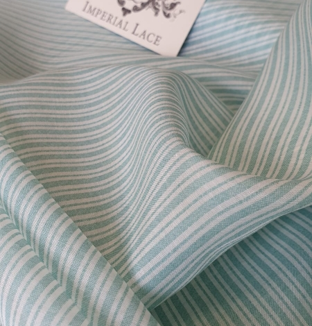 Blue stripes with white viscose fabric. Photo 2