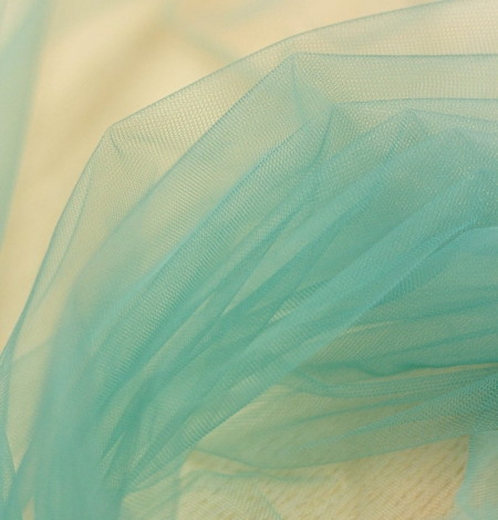 Laguna sea green soft tulle fabric from Italy. Photo 4