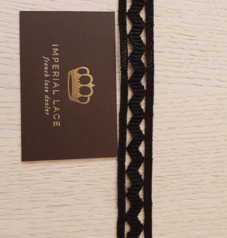 Black cotton macrame lace trimming. Photo 5