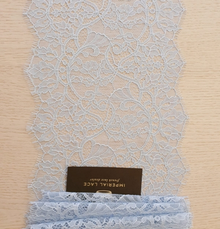 Light blue floral pattern chantilly lace trimming. Photo 8