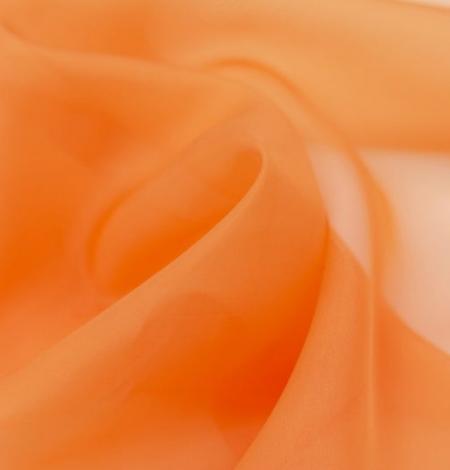 Orange silk organza fabric. Photo 5