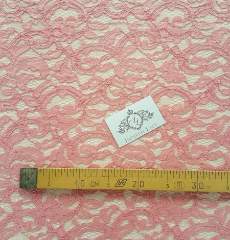 Salmon Lace Fabric. Photo 5