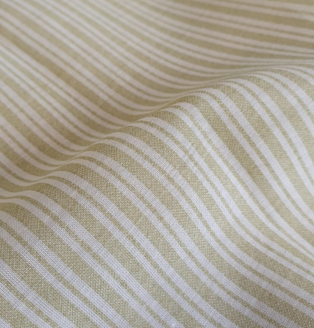 Green stripes with white viscose fabric. Photo 4