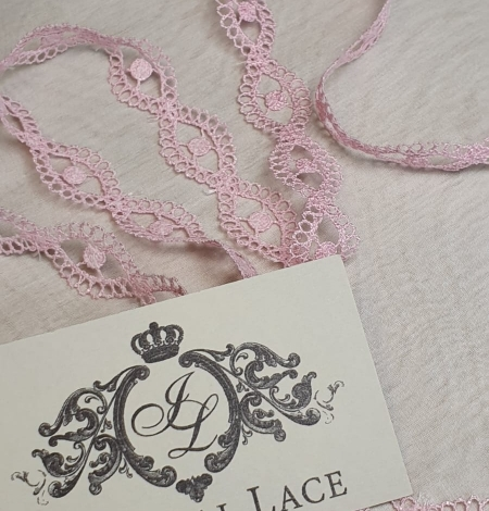 Pink chantilly lace trimming. Photo 2