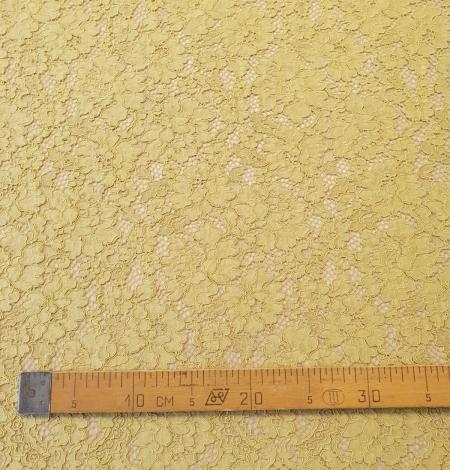 Pistachio green guipure lace fabric. Photo 9