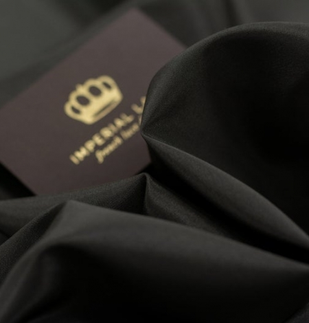 Dark brown Brunelli viscose with elastane lining fabric. Photo 4