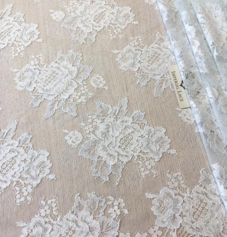 Light blue lace fabric. Photo 1