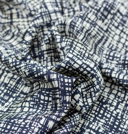 Abstract line pattern silk fabric . Photo 5