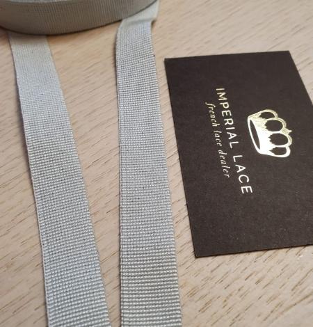 Grey grosgrain viscose ribbon. Photo 8