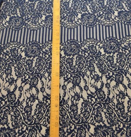 Dark blue lace fabric. Photo 9