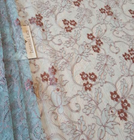 Blue lace fabric. Photo 1