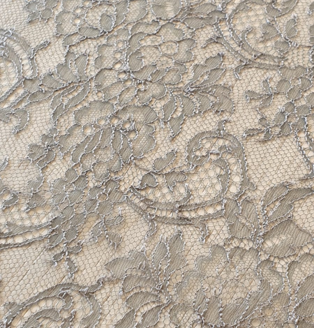 Anthracite lace fabric. Photo 5