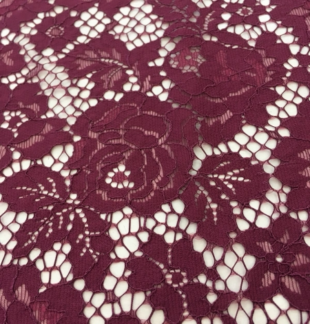 Wine red lace fabric. Photo 4
