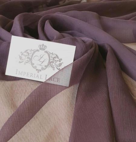 Dark lilac light silk crincle chiffon fabric. Photo 1