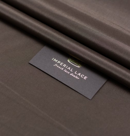 Brown viscose with elastane lining fabric . Photo 7