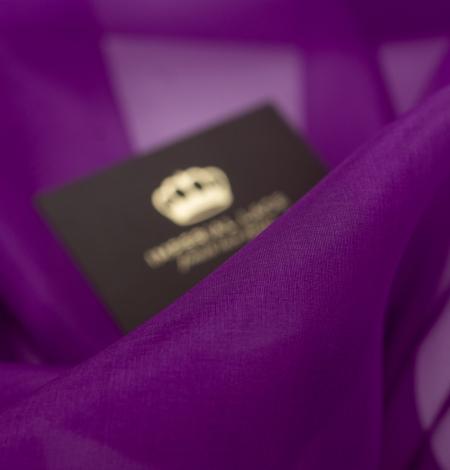 Purple silk organza fabric . Photo 7